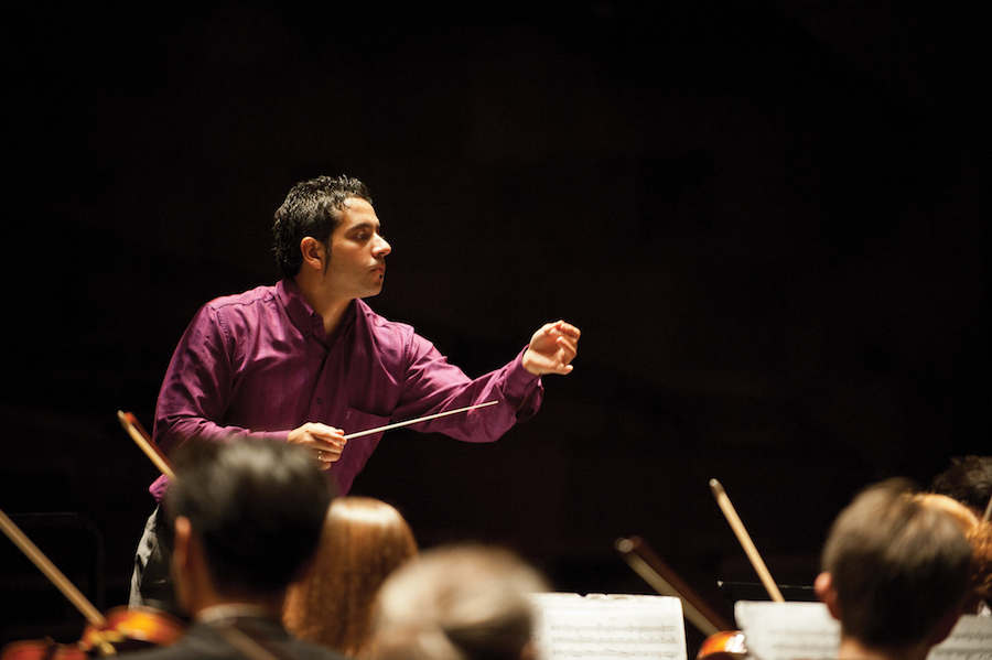 Baldini conducting UC Davis Symphony Orchestra